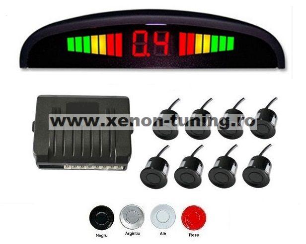 Senzori parcare fata spate cu 8 senzori si display LED S300-8