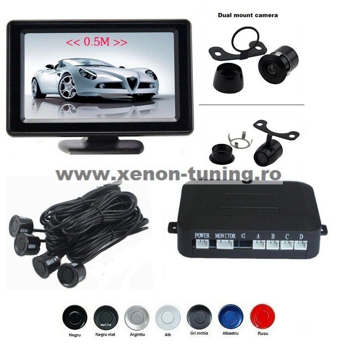 "Senzori parcare cu camera video si display LCD de 4.3"" S602"