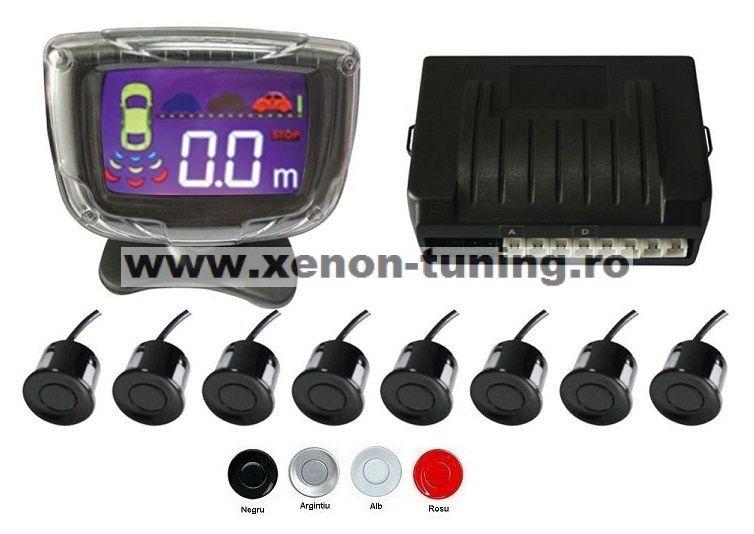 Senzori parcare fata spate cu 8 senzori si display LCD