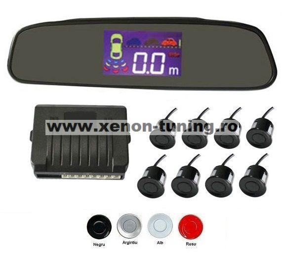 Senzori parcare fata spate cu 8 senzori cu display in oglinda