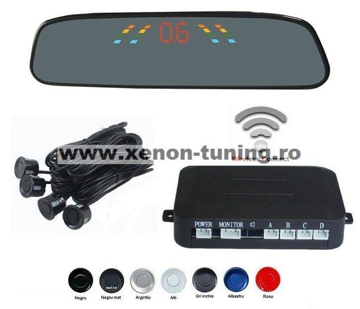 Senzori parcare cu display in oglinda wireless S306W